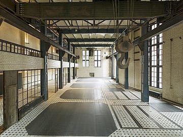 ewerk Berlin-Eventlocation-Industrie-industrial-Schaltwarte-Halle C-Blick Ost